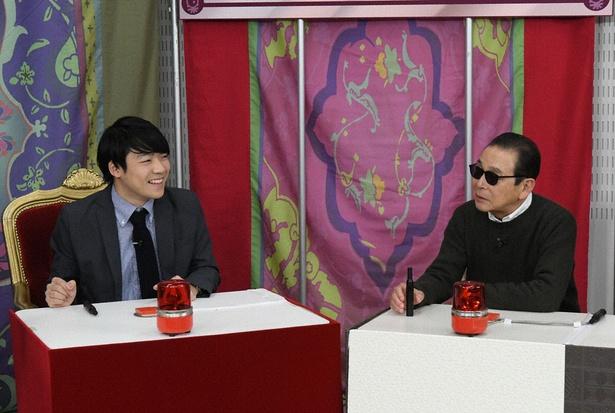 「タモリ倶楽部」にクイズ王の伊沢拓司(左)が登場