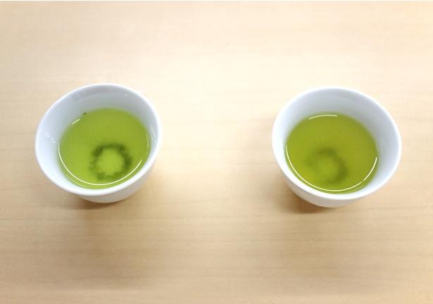 同じ茶葉でもいれ方で色が変わる