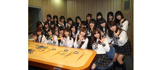 「AKB48のオールナイトニッポン」の収録を行ったAKB48