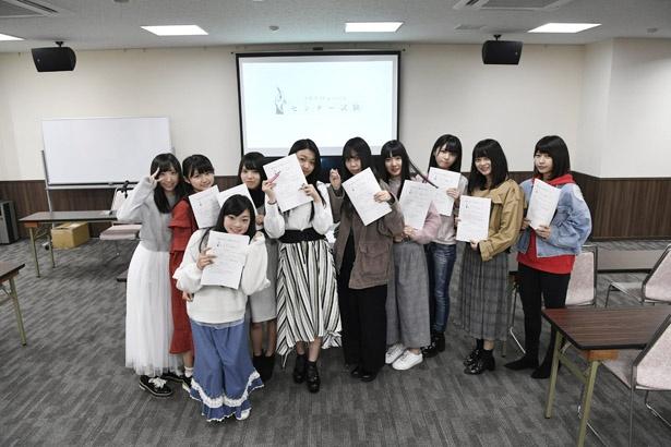 ワークピア広島でテストを受けたSTU48メンバー