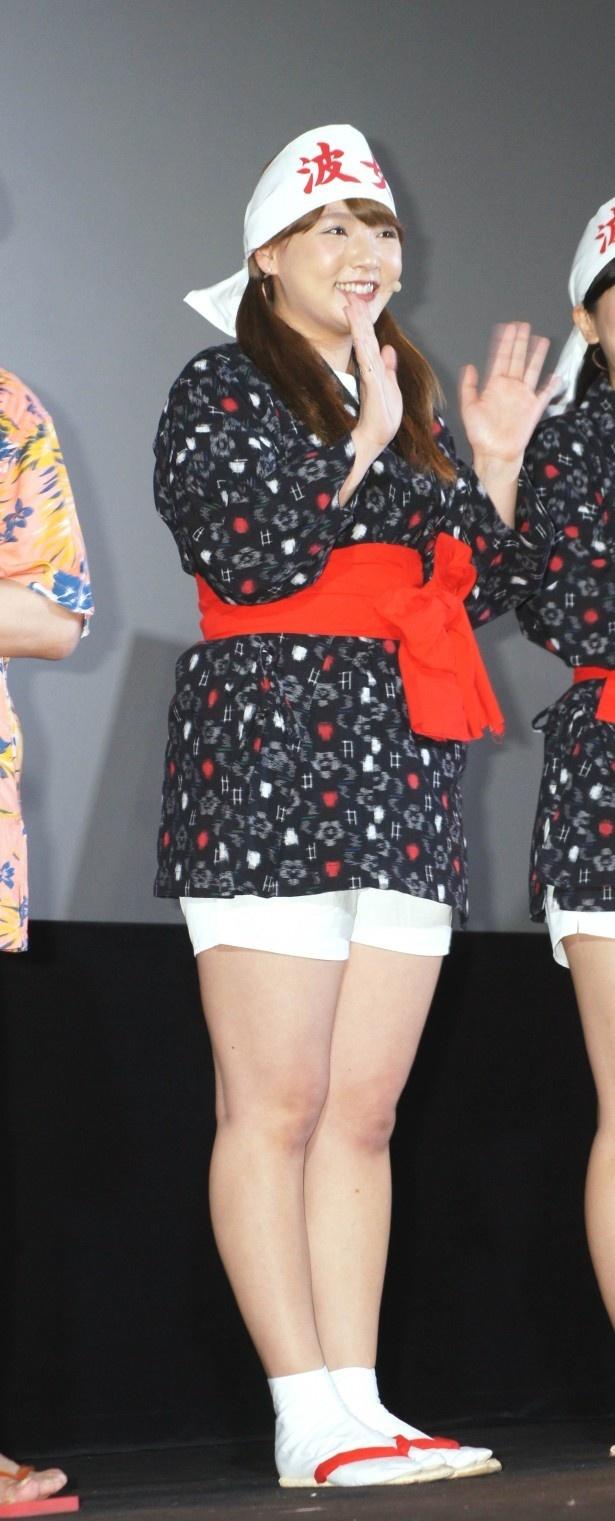 【写真を見る】交流のある上島竜兵の主演映画「上島ジェーンビヨンド」初日舞台あいさつで、海女さんの格好していた野呂佳代