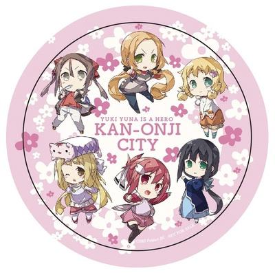 オリジナル缶バッジには、結城友奈をはじめ6人のキャラクターがデザインされている