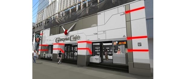 ガンダムの情報発信基地として、幅広い層ガンダムの世界観を楽しんでもらおうという「GUNDAM Cafe」は、4月24日(土)、JR秋葉原駅前にオープン
