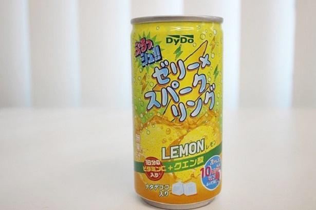 踏ん張りたい時に、一気に飲めるショート缶タイプの「ぷるっシュ!! ゼリー×スパークリング レモン」(税抜115円)