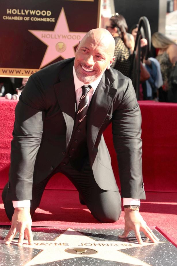 ハリウッドで殿堂入りを果たしたドウェイン・ジョンソン