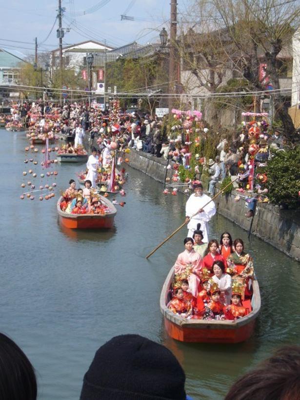 おひな様水上パレード / 3月18日(日)  水のまち柳川ならではのイベント