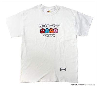 パックマン ゴースト刺繍付きTシャツ