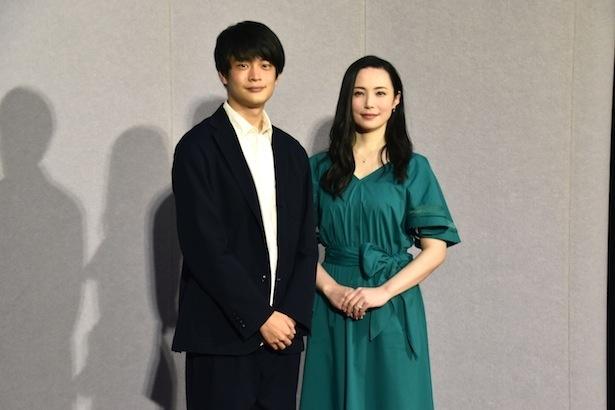 第41回創作テレビドラマ大賞「デッドフレイ ~青い殺意~」の試写会に登壇した井之脇海、ミムラ