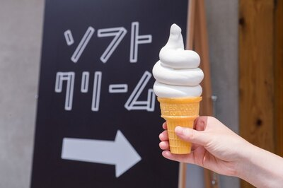 「ソフトクリーム・バニラ」(480円)。コーンとカップのいずれかを選べる