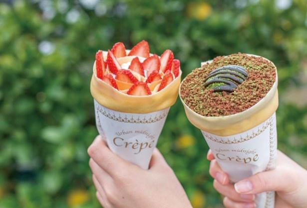 「生クリームストロベリー」(530円)と「アイス抹茶チョコクッキー」(570円)
