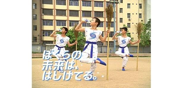 4月16日(金)からオンエアされる新CM『拳法部・春の演武』篇