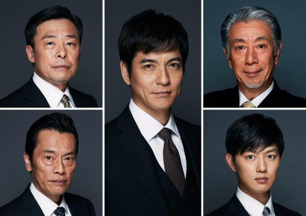 (写真左から)光石研、遠藤憲一、沢村一樹、高田純次、工藤阿須加