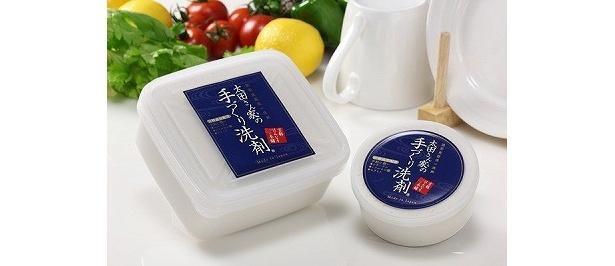 ヒアルロン酸などを贅沢に配合した「太田さん家の手づくり洗剤 化粧成分配合」(2100円・200g)(4410円・700g)
