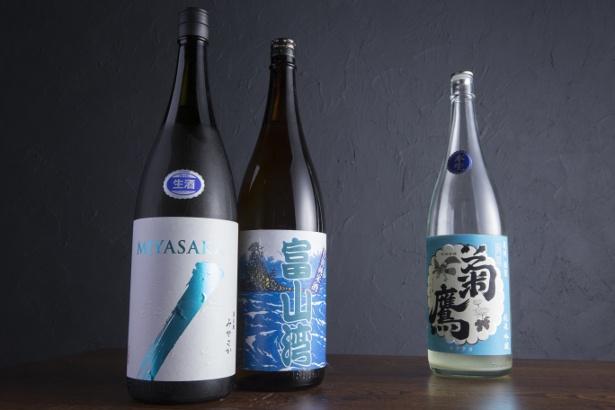 季節ごとに入荷する全国各地の日本酒もお楽しみ