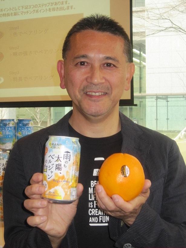 新商品発表会では、キリンビール マーケティング部 部長の田山智広氏が商品を紹介