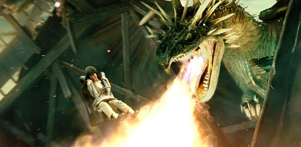 ドラゴンの吐く炎もリアルに体感【画像を見る】
