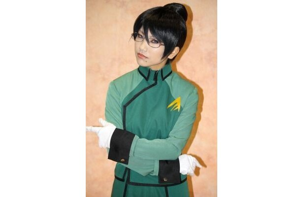 『機動戦士ガンダム00』カティ・マネキンのコスプレをする春希美羽さん