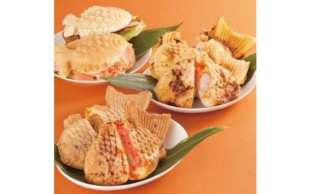 「銀座たい焼き 櫻家」(手前)「THE TAIYAKI」(中央)「Nazeya(ナゼヤ) Cafe」(奥)