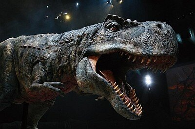 リアルなティラノサウルスが迫る!!大迫力のアドベンチャー・ショーが大阪に初上陸