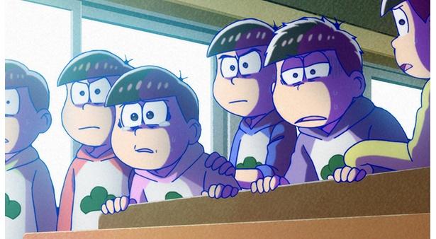 「おそ松さん 第2期」第24話の先行カットが到着。ダラダラ過ごす6人にまさかの電話が!