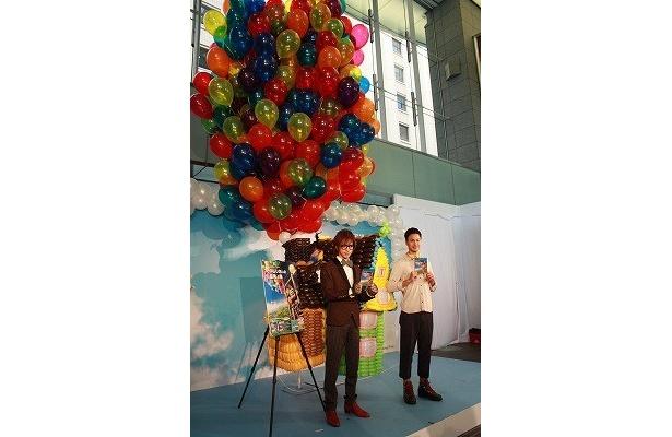バルーンアートは、世界的な風船作家・家泉あづさが手がけた力作!