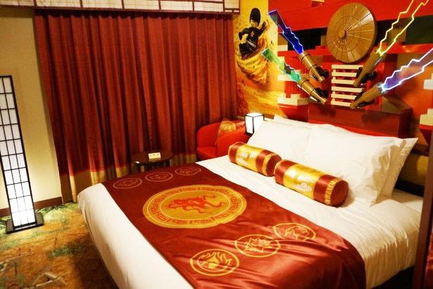 「レゴ ニンジャゴー」のスイートルーム(寝室)/レゴランド・ジャパン・ホテル