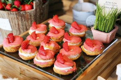 「恋するいちごのピンクシュークリーム」