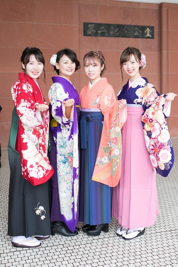 福岡大学の卒業生 かおりさん なるみさん ひとみさん りのさん