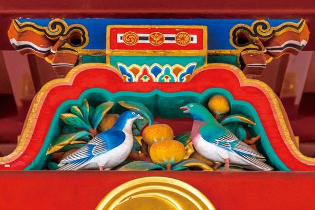 神の使いのハトと不老長寿の果実カグノミ/石清水八幡宮