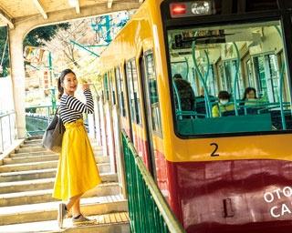 桜トンネルも抹茶パフェも!京都の春を感じるケーブル利用の列車旅プラン
