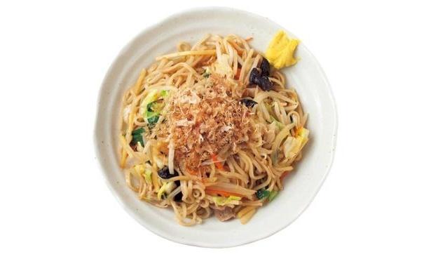 中華料理のどんタレで、野菜と一緒に炒めた焼きそば風の「カオリ焼き麺」(680円「らーめん石狩」)