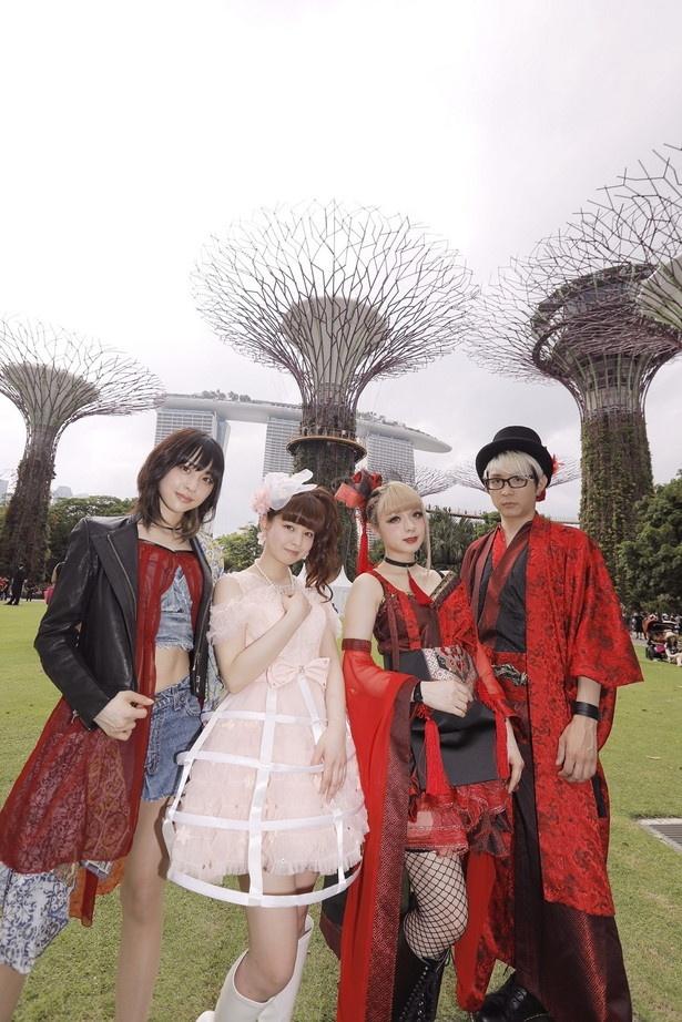 綾野ましろ、GARNiDELiA、春奈るながシンガポールの巨大植物園で日本人初ライブ