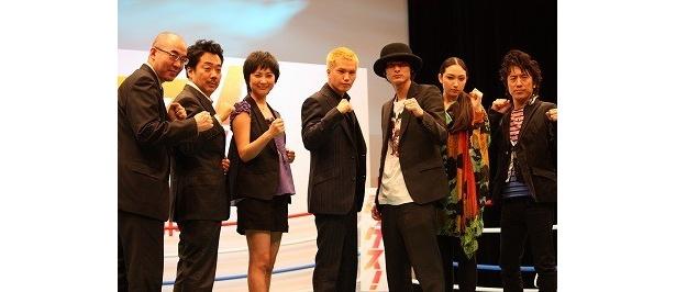 市原らキャスト陣や、監督、李闘士男監督、原作者の百田尚樹のコメントはみんな熱かった