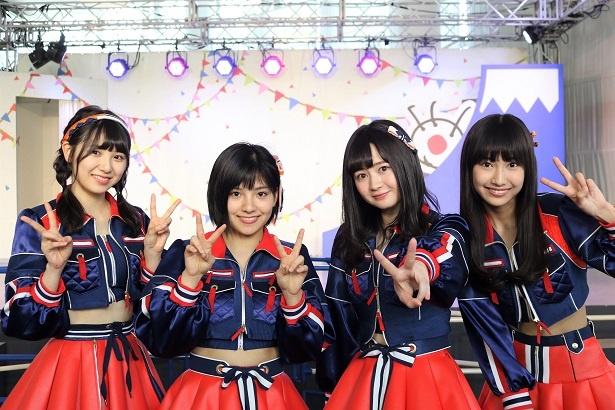SKE48 CAFE&SHOPの出張イベントに出演した野村実代、江籠裕奈、後藤楽々、菅原茉椰(写真右から)
