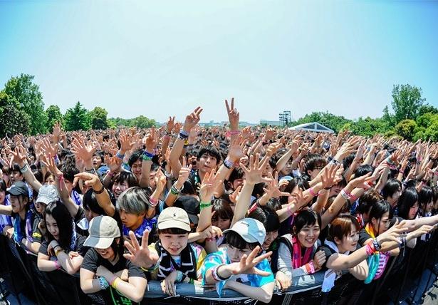 メトロックは、2016年から東京・大阪の2会場となり、大阪会場は広大な敷地で開放的な音楽体験を味わうことができる
