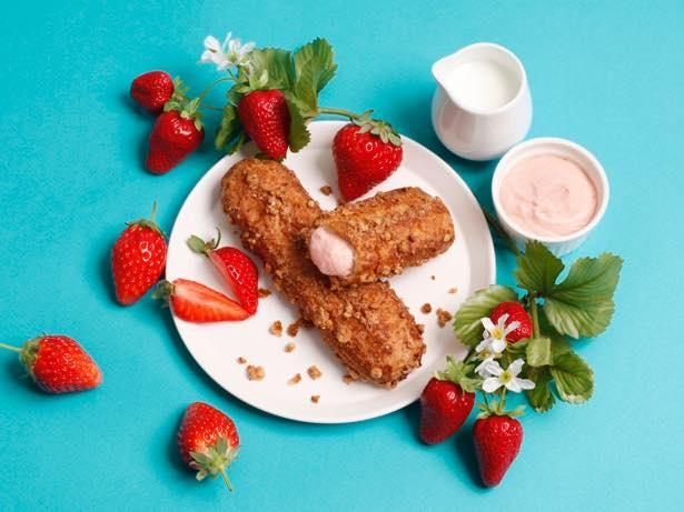 期間限定、春にぴったりの新フレーバー「苺ミルクザク」(1個270円)を販売