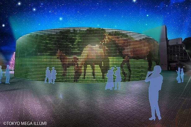 「ウマイルミスクリーン」は直径約35m、高さ約8mと超大型!