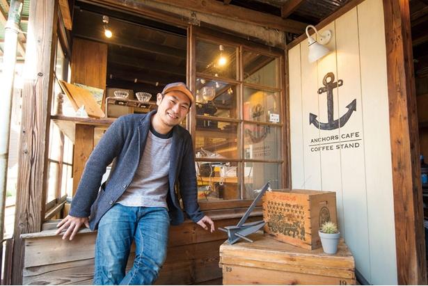 オーナーの恵武志氏。藤沢出身で、実家は干物専門店を経営しているので魚の目利きはプロ級