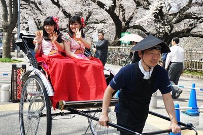 名古屋人力車にも乗ってみよう。料金は1人2000円~。