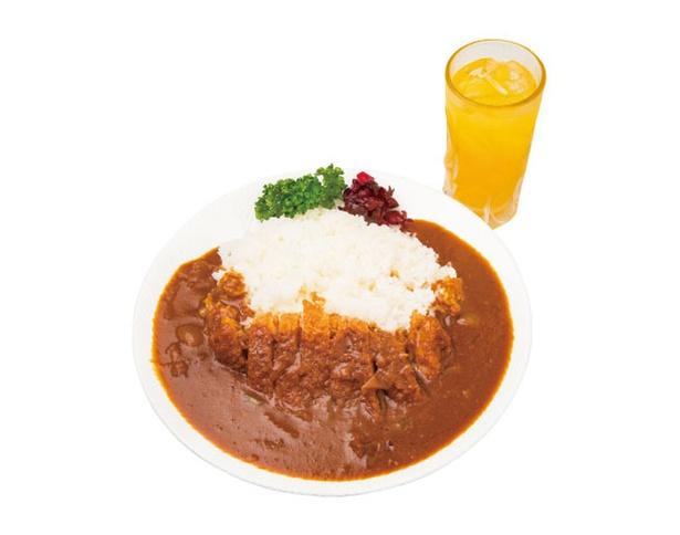 【写真を見る】ボリューム満点の「カツカレー(大盛り)」(1,100円)。空腹時にたまらないメニューだ