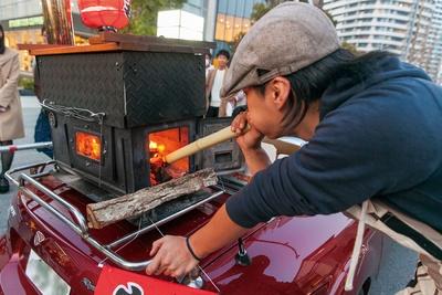 ロードスターに乗せたオリジナルの焼き窯