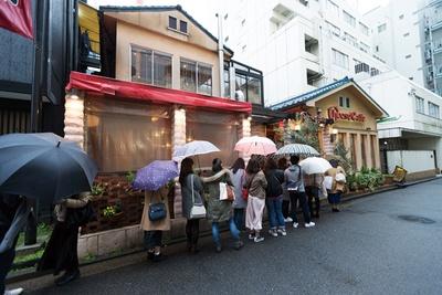 雨の日でも行列ができるほどの人気ぶり