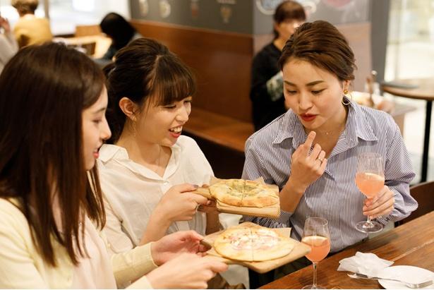4種類のピッツァを食べ比べてみよう