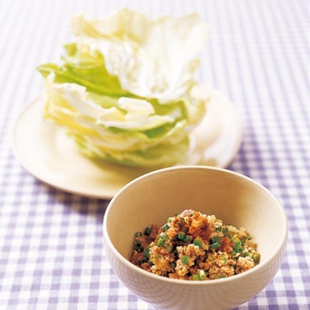 【関連レシピ】春キャベツの肉そぼろ包み