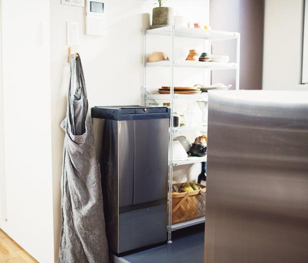 ゴミ箱は部屋の中央に1つだけだから、ゴミ出しもラクラク