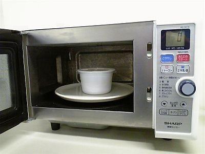 あとは電子レンジに入れて2分間温めれば…