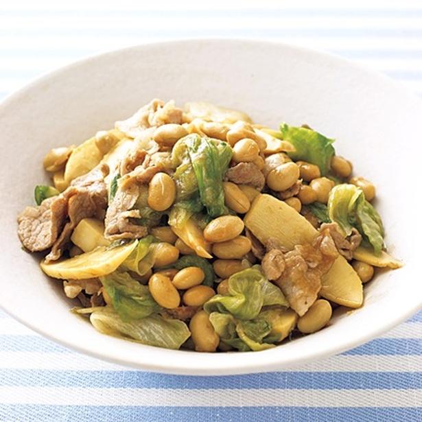 箸が止まらなくなる「大豆の具だくさん中華炒め」