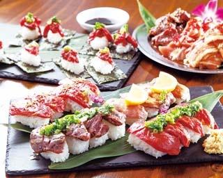 「和牛サガリの炙り」や「塩ねぎ馬肉握り」など、食べ放題で楽しむには豪華すぎるものばかり!