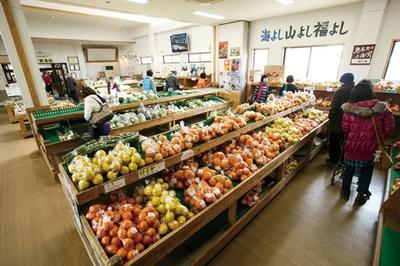 「福ふくの里」。青果の人気NO.1は福吉生まれの柑橘類「はるか」