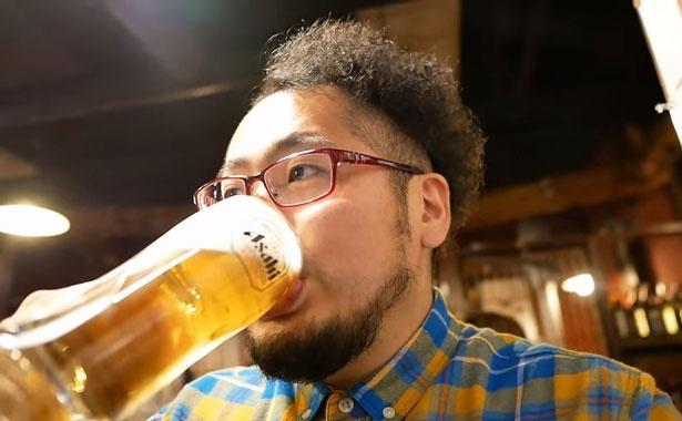 まずはビールで